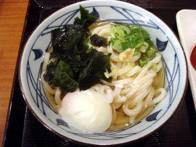 丸亀製麺・わか玉うどん