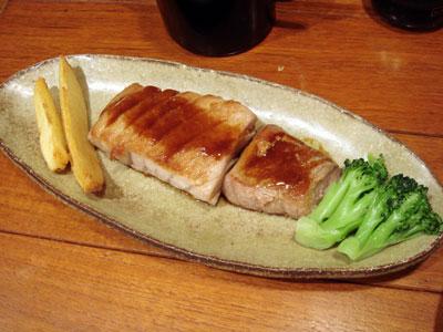 つるしこ庵・マグロ腹身ステーキ